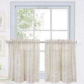 JCPenney Linen Stripe Rod-Pocket Sheer Window Tiers