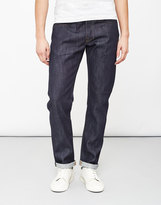 Edwin ED-55, Relaxed Tapered, 11.5oz, White Listed Indigo Jeans