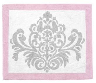 "JoJo Designs Sweet Elizabeth Damask Tufted Cotton White / Gray Area Rug Sweet Rug Size: Rectangle 2'6"" x 3'"