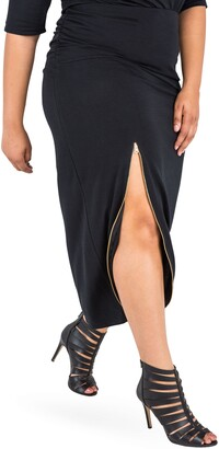 Poetic Justice Kandi Zip Slit Maxi Skirt