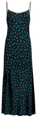 Rixo Holly Floral Silk Slip Dress