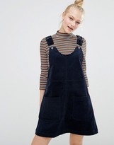 Monki Cord Pinny Dress