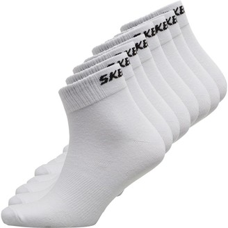 Skechers Sport SKECHERS Eight Pack Basic Quarter Socks White