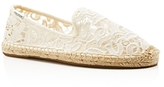 Soludos Lace Smoking Slipper Espadrille Flats