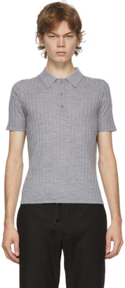 Dion Lee Grey Wool Polo