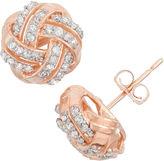 FINE JEWELRY 1/3 CT. T.W. Round White Diamond 10K Gold Stud Earrings