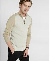 Express Color Block Half Zip Mock Neck Sweater