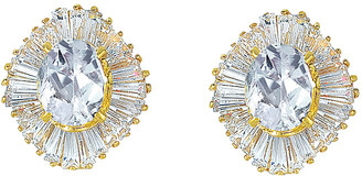 Genevive 14K Gold Over Silver Cz Earrings