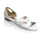 Sister Patent Cut-Out Flat Sandal