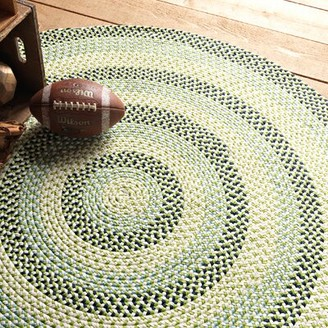 Colonial Mills Carousel Neon Braided Green/Tan Rug Rug Size: Rectangle 2' x 3'