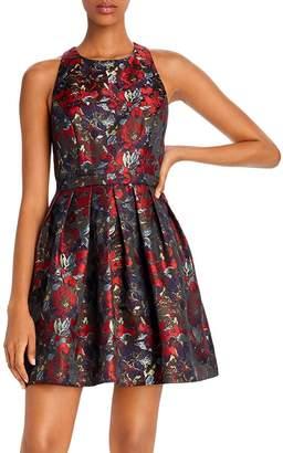 Aidan Mattox Jacquard Cocktail Dress