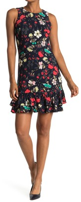 Tommy Hilfiger Floral Sleeveless Ruffled Mini Dress