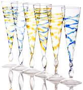 Abigails Rialto Spiral Champagne Flute Glass