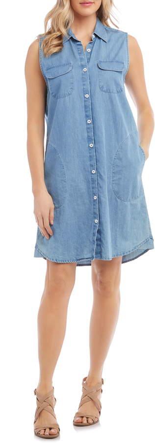 Karen Kane Chambray Shirtdress