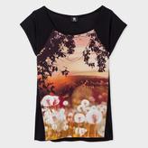Paul Smith Women's Black 'Dandelion Landscape' Print T-Shirt