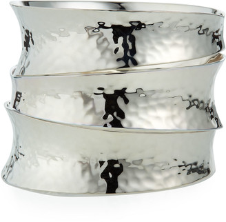 Nest Jewelry Stacked Sterling Silver Bangles, Set of 3