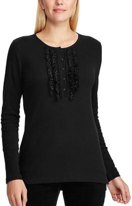 Chaps Women's Knit Henley Shirt