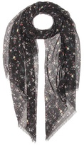 Saint Laurent Floral-printed wool scarf