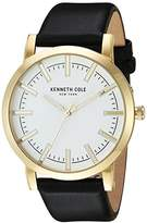 Kenneth Cole New York Men's 'Slim' Quartz Stainless Steel and Leather Dress Watch