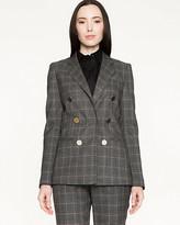 Le Château Canadian-Made Plaid Tweed Blazer