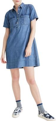 Madewell Indigo Half Placket Denim Dress (Regular & Plus Size)