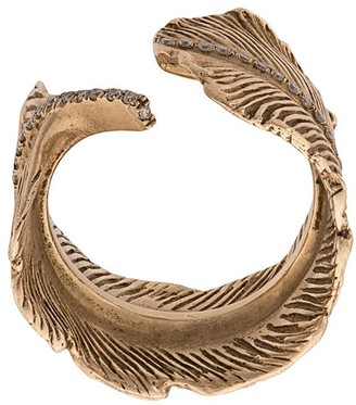 M. Cohen 14K Gold Feather ring