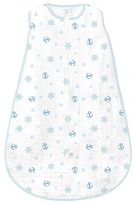 Swaddle Designs Muslin zzZipMe Sack - Pastel Blue Ahoy