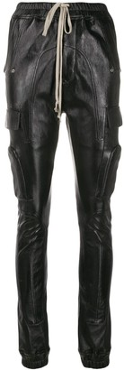 Rick Owens stitched panel tapered trousers