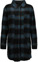 RtA Genevieve checked wool-blend mini dress