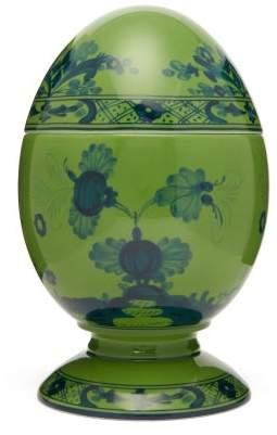 Richard Ginori Oriente Italiano Porcelain Egg Ornament - Green