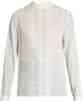 Vanessa Bruno Fes stand-collar embroidered silk blouse
