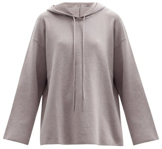 Live The Process Baja Knitted Cotton-blend Hooded Sweatshirt - Light Grey