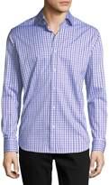 Neiman Marcus Long-Sleeve Check Sport Shirt