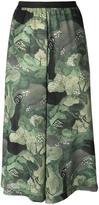 Antonio Marras tree print cropped trousers - women - Polyester/Viscose - 1