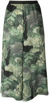 Antonio Marras tree print cropped trousers - women - Polyester/Viscose - 2