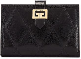 Givenchy Medium GV3 Bifold Wallet in Black | FWRD