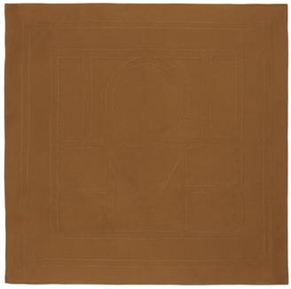 Totême Brown Silk Pantelleria Scarf