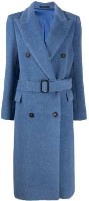 Tagliatore Double-Breasted Belted Coat