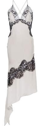 Kiki de Montparnasse Silk And Lace Slip Dress