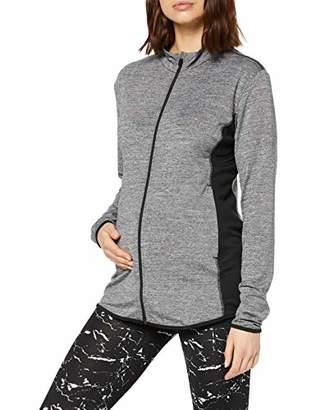 Noppies Women's Jacket Floortje Maternity Sports T-Shirt, (Grey Melange C246), 12 (Size: M)