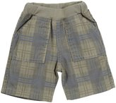 Charlie Rocket Twill Plaid Shorts (Baby) - Sand-3-6 Months