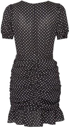 Dorothy Perkins Dalmatian Ruched Mini Dress - Black