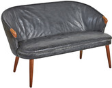 Rejuvenation Original Black Leather Danish Sofa