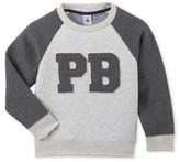 Petit Bateau Boys sweatshirt in two materials