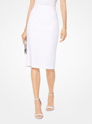 Michael Kors Double Crepe-Sable Pencil Skirt