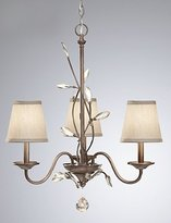 Chandelier ZQ ZQ Character design European Style Vintage 3 Light Chandelier Decorated With Crystal Leaves , 110-120v