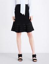 Sandro Flared knitted skirt