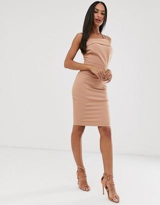 Vesper strappy one shoulder dress