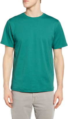 Acyclic Short Sleeve Basic Crew Neck Slim Tee
