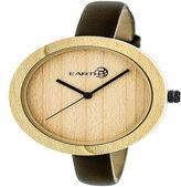 Earth Wood Unisex Brown Strap Watch-Ethew3701